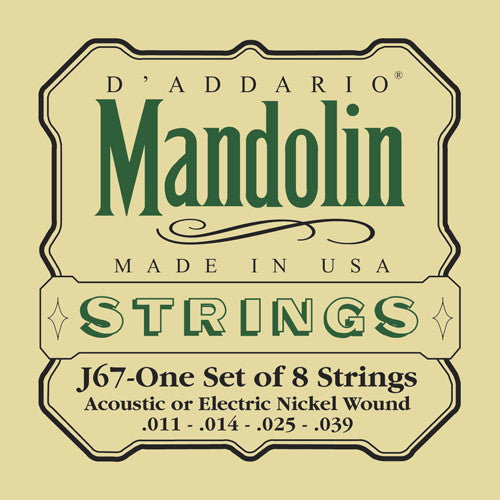 D'Addario Mandolin Strings Nickel Wound