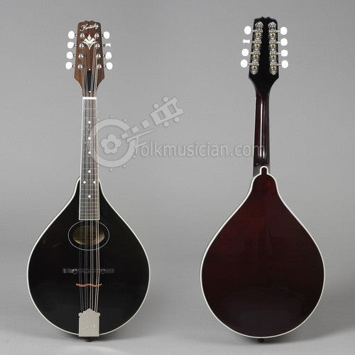 Left Handed Mandolin Kentucky Oval Black