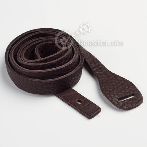 Lakota Leather Mandolin Strap Bison Mahogany