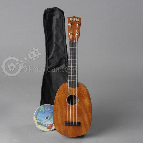 mahalo pineapple soprano ukulele folkmusician. Black Bedroom Furniture Sets. Home Design Ideas