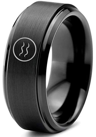 Horoscope Aquarius Symbol Tungsten Ring