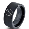 Horoscope Sagitarious Symbol Tungsten Ring - Zealot