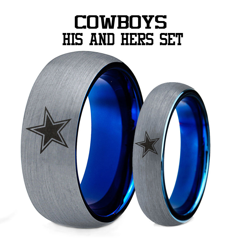 Dallas Cowboys His and Hers Tungsten Ring Set