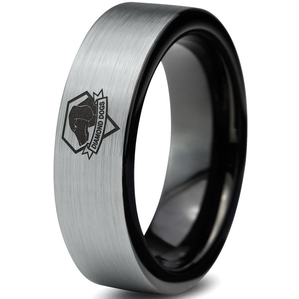 Metal Gear Solid Inspired Diamond Dogs Tungsten Ring
