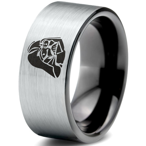 LIMITED SALE! Darth Vader Inspired Silver Black Tungsten Ring