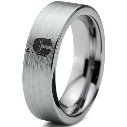 Boba Fett Inspired Silver Tungsten Wedding Band Ring
