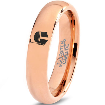 Boba Fett Inspired 18k Rose Gold Tungsten Wedding Band Ring