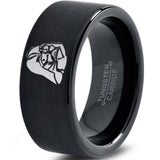 Darth Vader Inspired Black Tungsten Wedding Band Ring