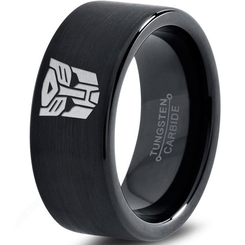 Transformers Autobot Black Tungsten Ring