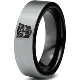 Transformers Autobot Brushed Silver Tungsten Ring