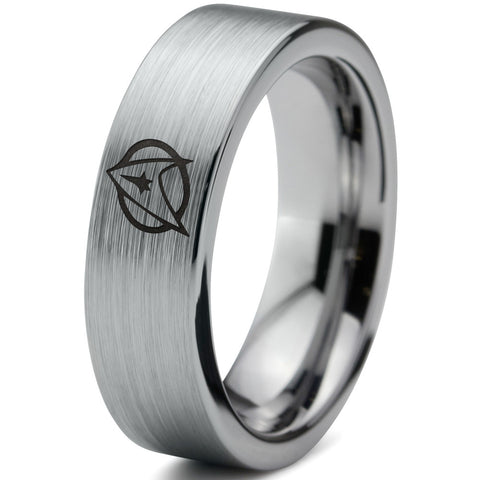 Star Trek Inspired Silver Tungsten Ring