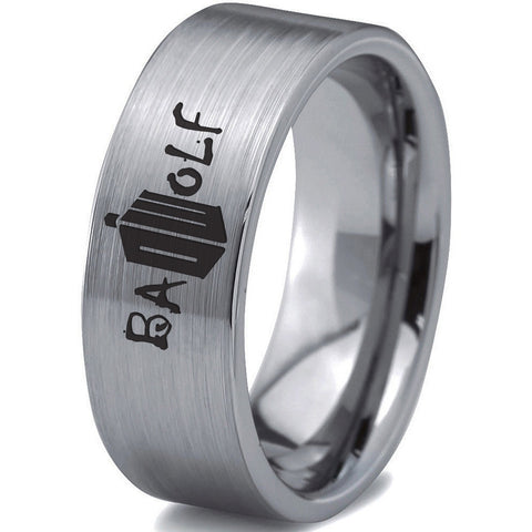 Bad Wolf Brushed Silver Tungsten Ring
