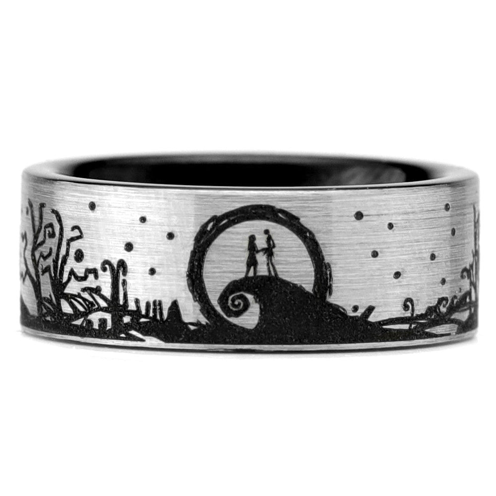 Nightmare Before Christmas Wraparound Tungsten Ring