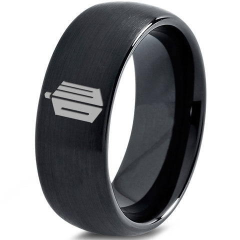 Doctor Who Black Tungsten Ring