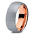 Rose Gold Chromacolor Silver Dome Tungsten Ring - Zealot