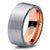Rose Gold Chromacolor Silver Flat Pipe Cut Tungsten Ring - Zealot