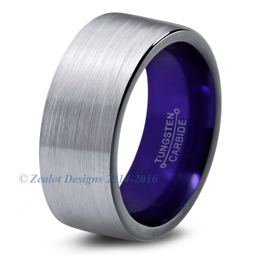 Purple Chromacolor Silver Tungsten Ring - Zealot