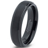 6mm Black Plated Step Edge Tungsten Ring - Zealot
