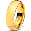 7mm 18k Yellow Gold Plated Dome Cut Tungsten - Zealot
