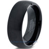 8mm Black Tungsten Domed Brushed - Zealot
