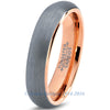 5mm 18k Rose Gold Plated Brushed Dome Cut Tungsten - Zealot