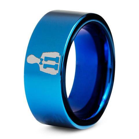 Doctor Who 11th Time Lord Blue Tungsten Ring