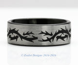 Thorns Brushed Tungsten Ring