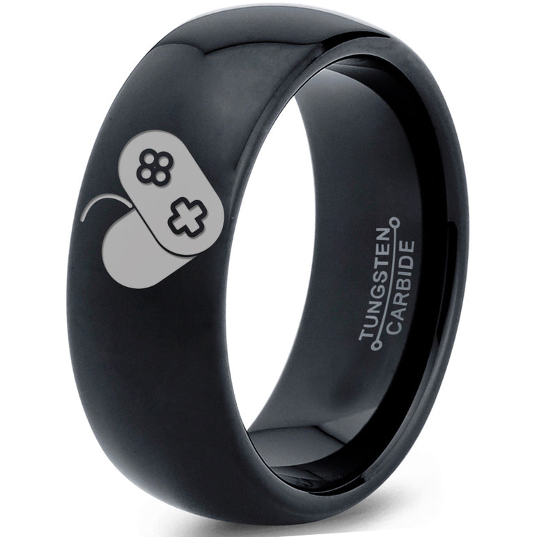 Controller Heart Gamer Tungsten Ring