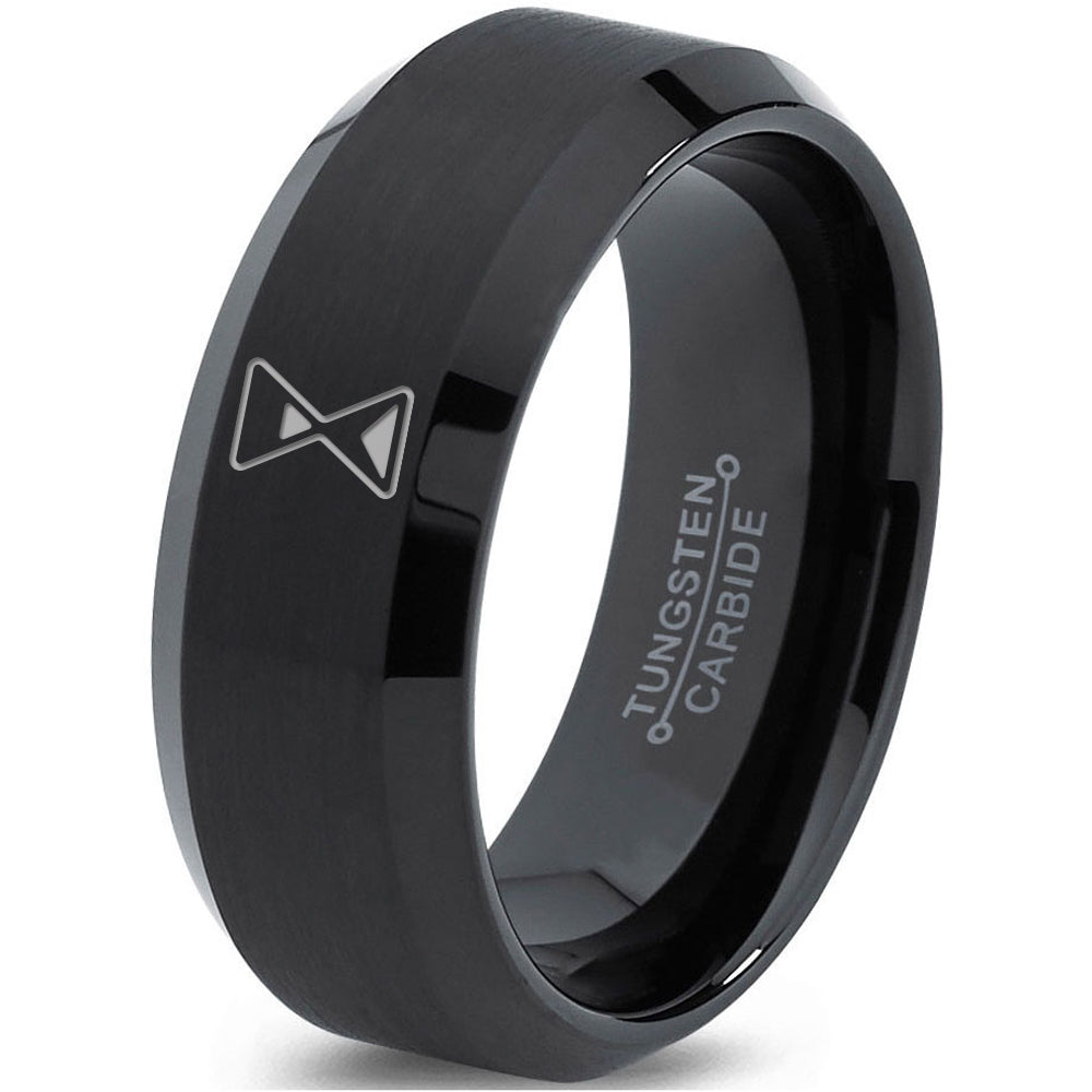 Hour Glass Time is Running Out Gamer Tungsten Ring - Zealot