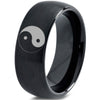 Yin-Yang Balance Black Tungsten 8mm Ring - Zealot