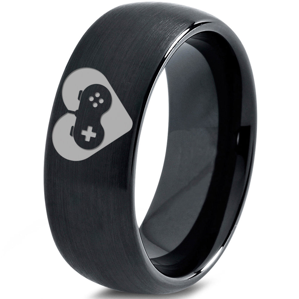 Controller Heart in Controller Gamer Tungsten Ring