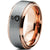 Slytherin Snake 18k Rose Gold Plated Beveled Edge Tungsten Ring - Zealot