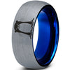 Cute Otter Blue Tungsten Ring - Zealot