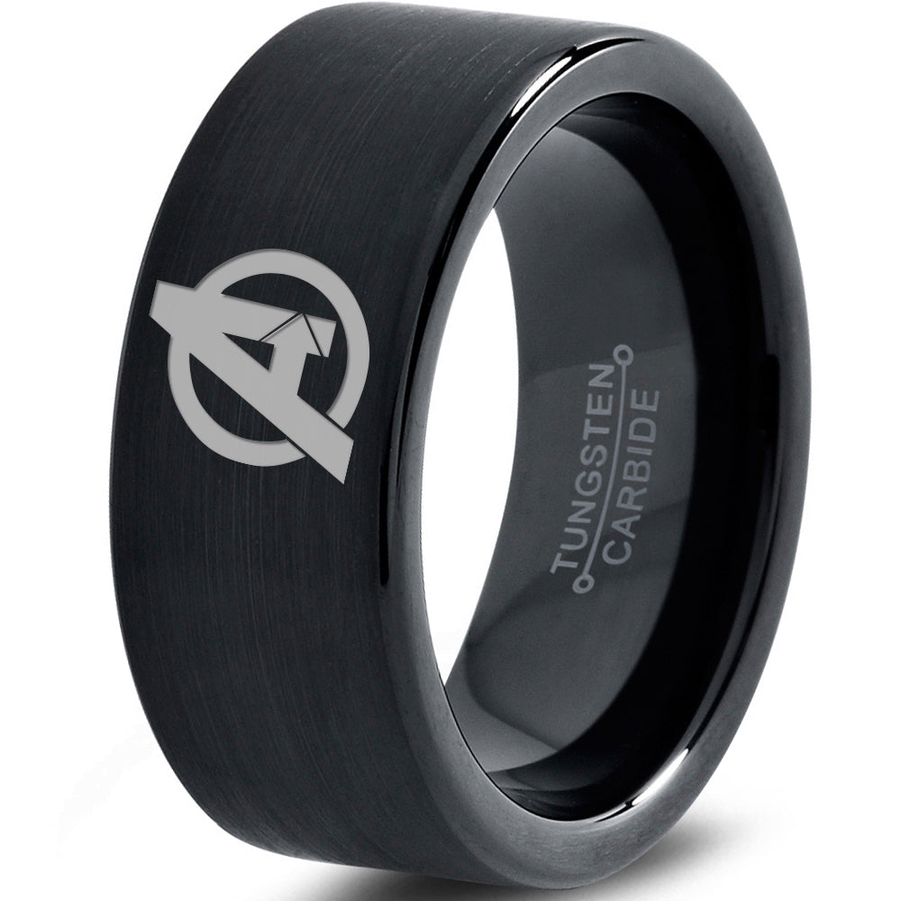 Avengers Inspired Black Tungsten Ring