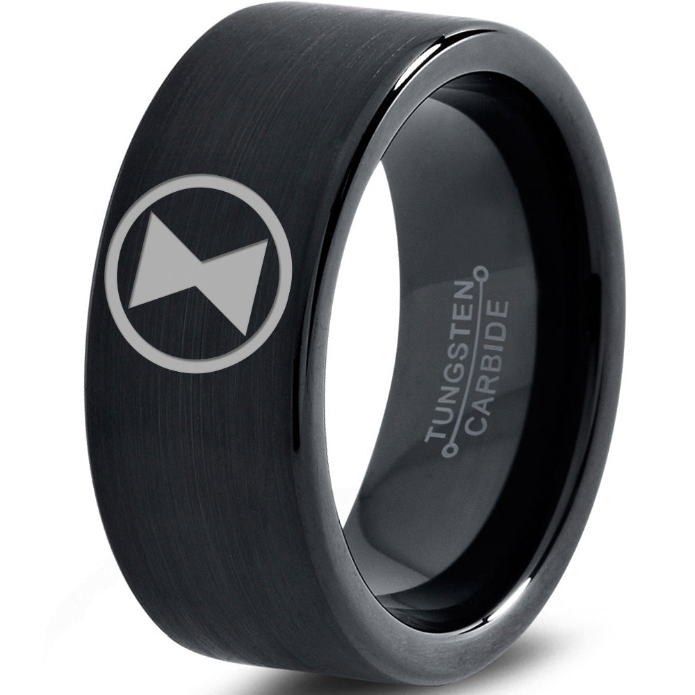 Black Widow Inspired Black Tungsten Ring