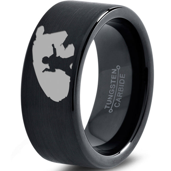 Han Solo Millenium Falcon Inspired Tungsten Wedding Band Ring