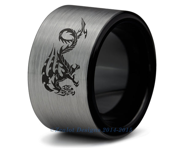 Chinese Dragon Tungsten Ring