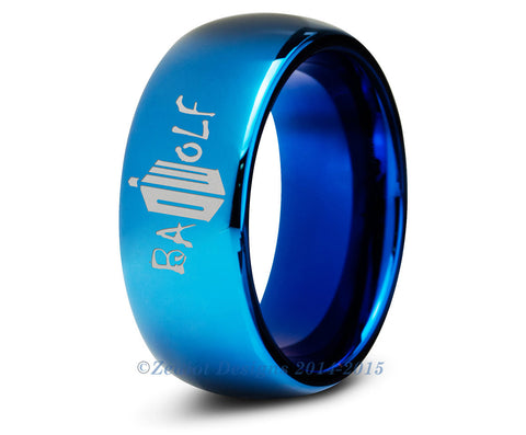 Bad Wolf Blue Tungsten Dome Cut