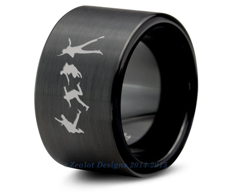 The Beatles Black Tungsten Ring