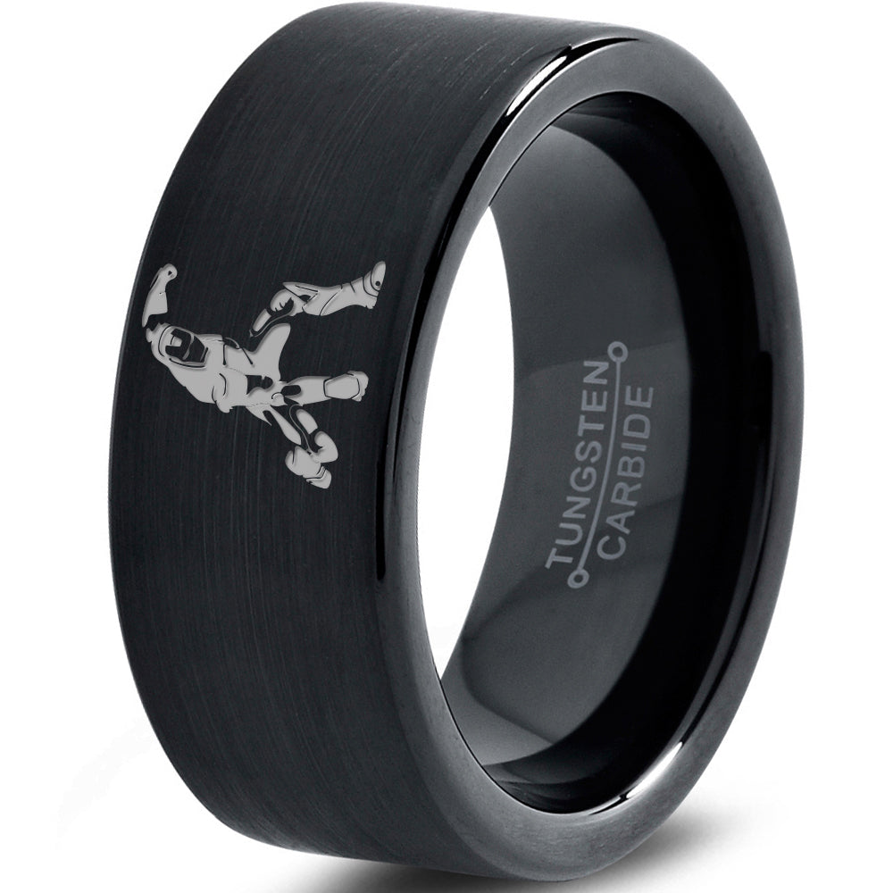 Iron Man Inspired Black Tungsten Ring
