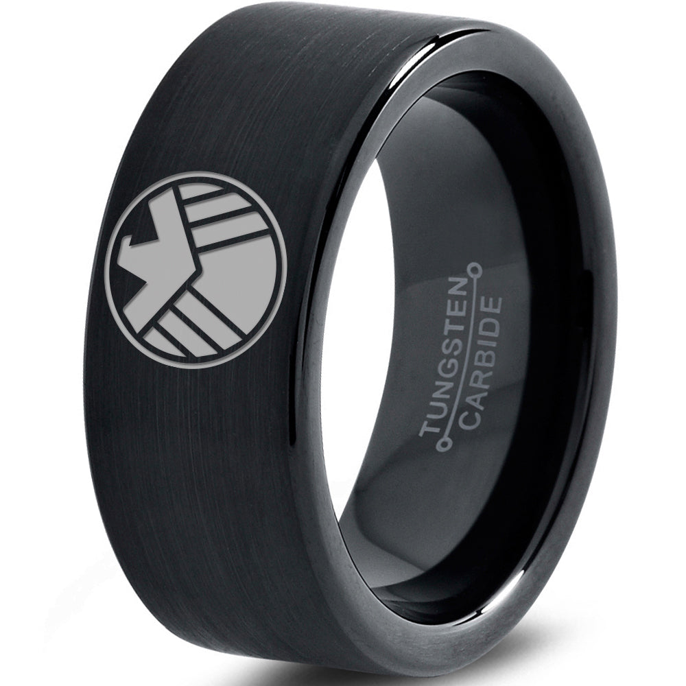 S.H.I.E.L.D. Inspired Black Tungsten Ring
