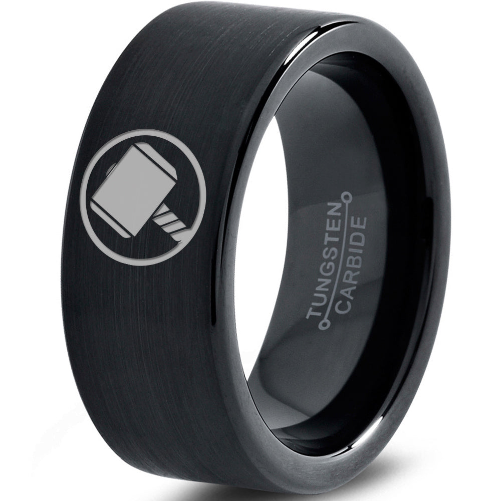 Thor Inspired Black Tungsten Ring