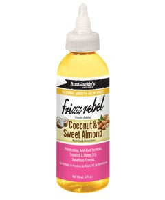 Aunt Jackies Frizz Rebel With Cocount Sweet Almond Oil - Huile capillaire noix de coco + amande douce