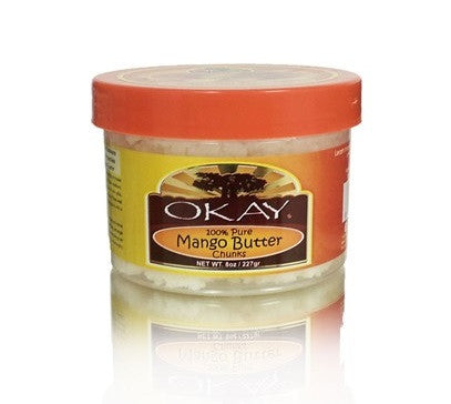 OKAY 100% Pure Mango Butter Chunks - Beurre de mangue - Sédécia Cosmetics