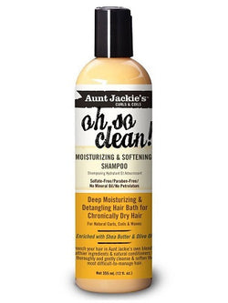 Aunt Jackies Oh So Clean Moisturizing And Softening Shampoo - Shampoing Hydratant et adoucissant - Sédécia Cosmetics