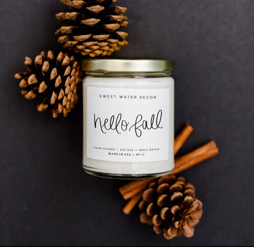 Soy Candle- Hello Fall