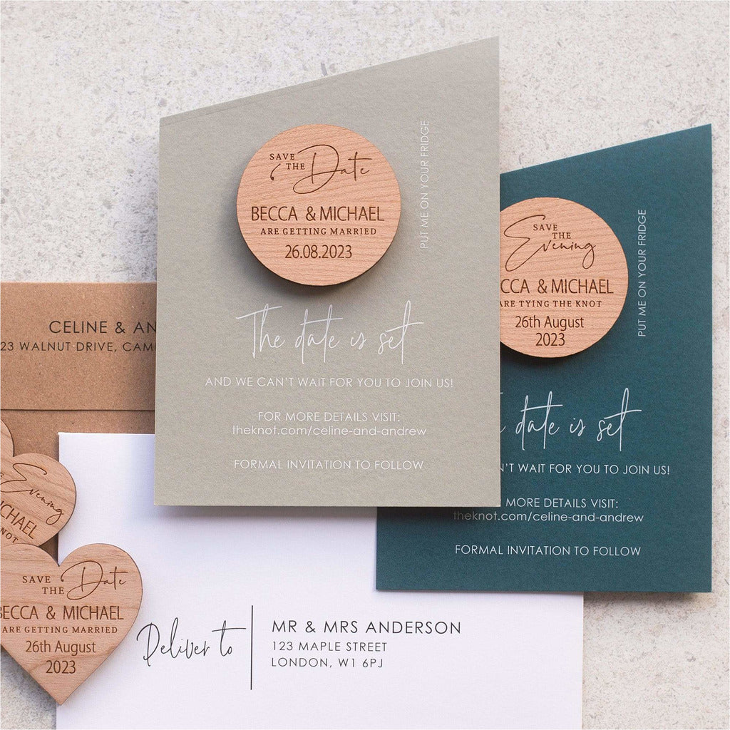 15 degree save the date magnet with cards NIVI Design