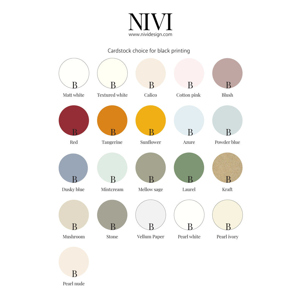 Angled Table Numbers NIVI Design