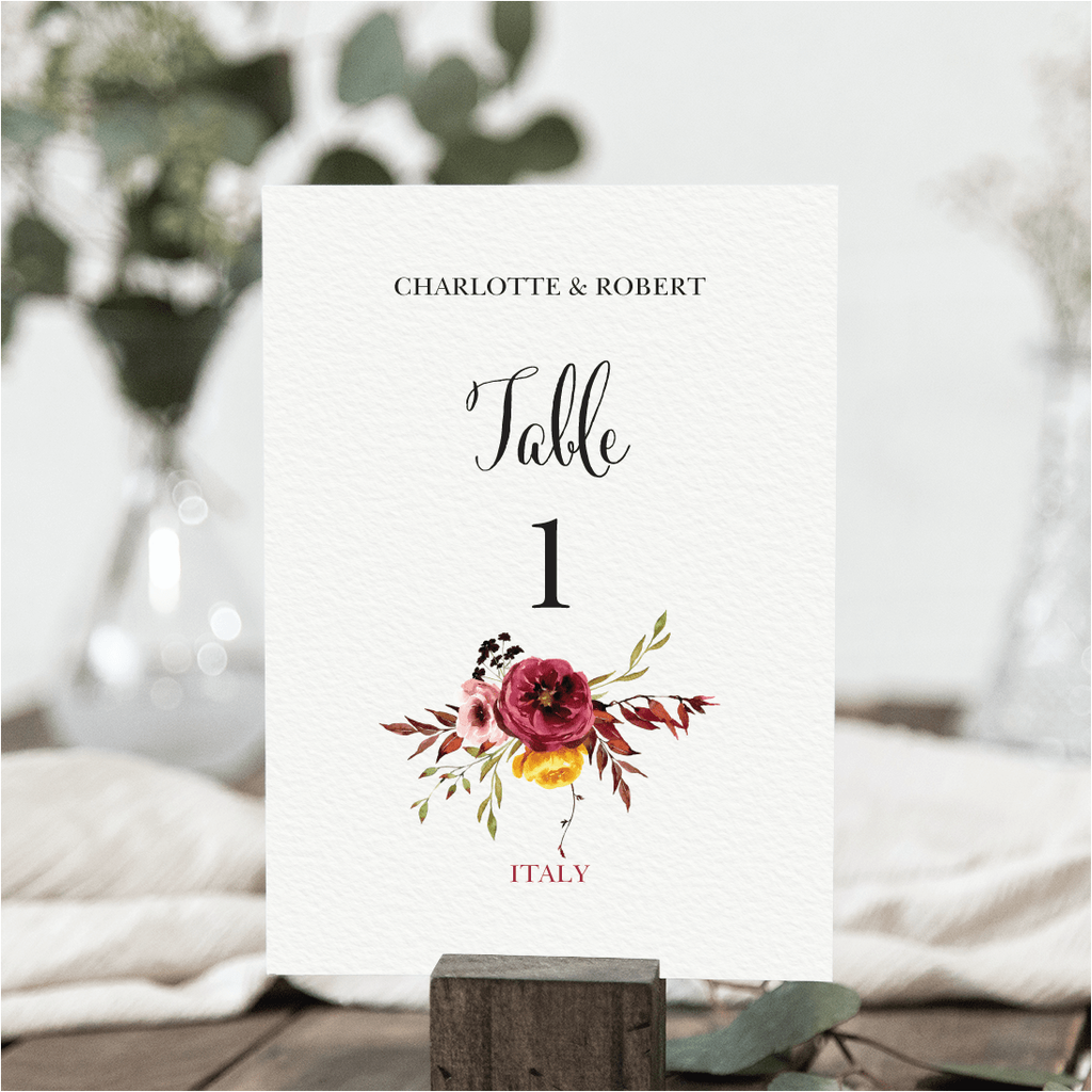 Fall Table Numbers NIVI Design
