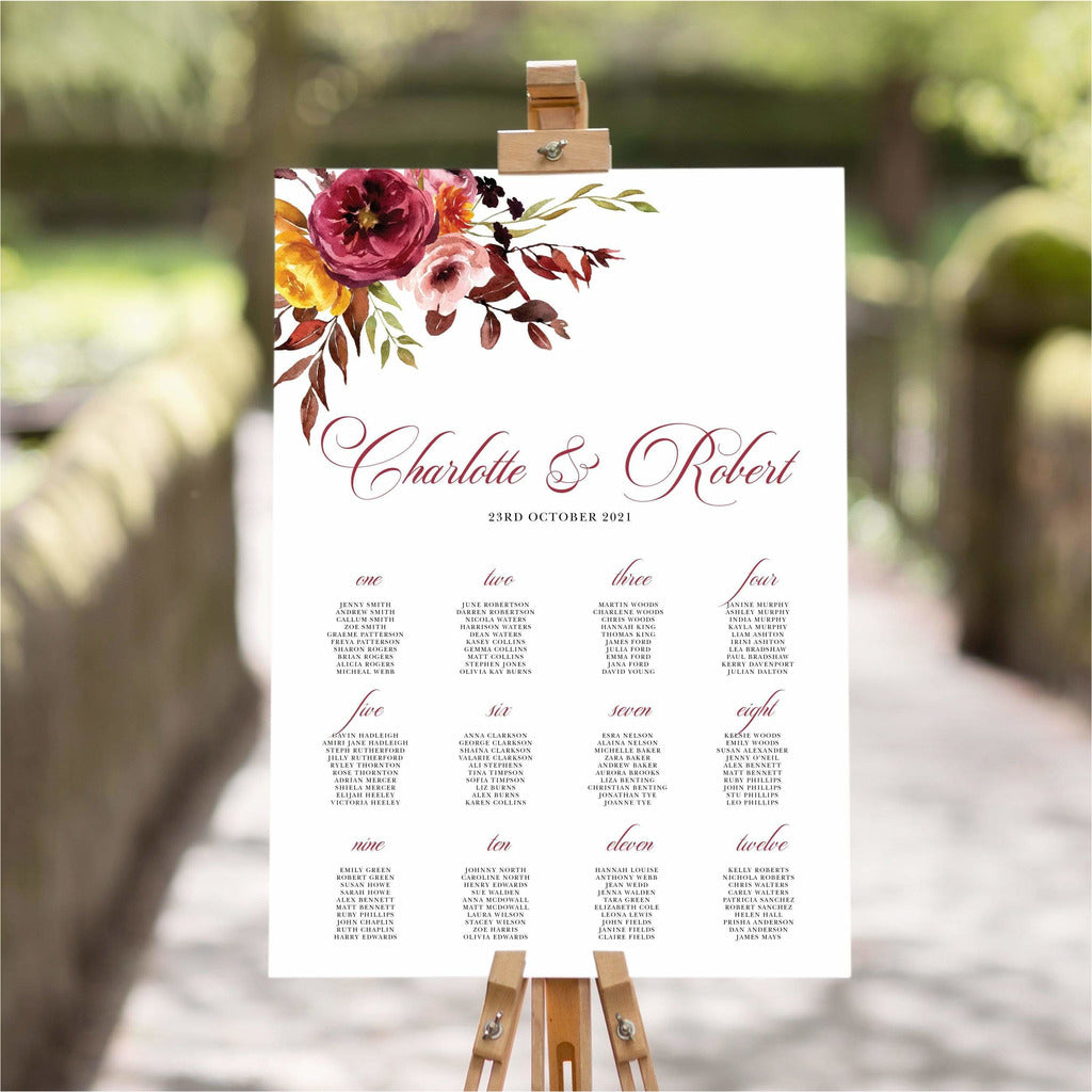 Fall Wedding Table Plan NIVI Design